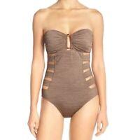 La Blanca Women's Sand Dunes Bandeau Keyhole One-Piece Swimsuit~LB6HA16~10~$119
