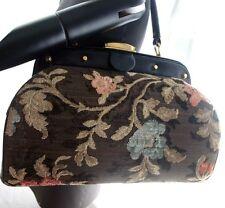 Vintage TANO Floral Carpetbag Tapestry Handbag 50s