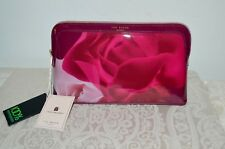 NWT $49 TED BAKER Porcelain Rose Wash bag Makeup Cosmetic Case Maroon