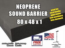 "Ultimate SOUND BARRIER 1"" closed cell neoprene acoustic foam  weather resistant"