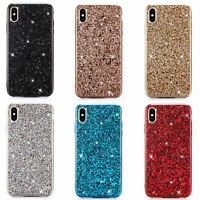 For iPhone 6s 7 8 Plus Luxury Bling Glitter Shockproof Soft Silicone Case Cover