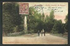 Alessandria : Giardini Pubblici, La Fontana - viaggiata nel 1906 per l'Argentina