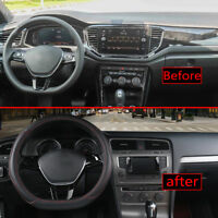 Car Steering Wheel Cover D Type For Nissan Rogue/Rogue Sport 2017-2018 Fashion