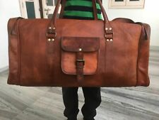 New Bag Leather Travel Men Retro Handmade Duffle Luggage Gym Weekend Shoulder