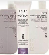 RPR BRIGHTEN MY BLONDE SHAMPOO & Conditioner & Treatment Trio Pack New Packaging