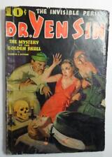 DR YEN SIN #2 PULP JULY AUG 1936 WEIRD MENACE TORTURE SKULL NOOSE ON NECK COVER