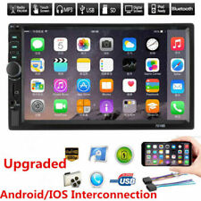 "7"" inch Double DIN Bluetooth Car Stereo FM AUX MP5 Player Touch Screen Head Unit"