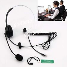 New!Call Center Headset Earpiece for IP Phone 3Com Aastra Alcatel-Lucent AltiGen