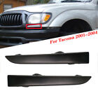 Front Bumper Grille Headlight Filler Trim Panels Set For Toyota Tacoma 2001-2004