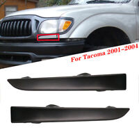FRONT BUMPER GRILLE HEADLIGHT FILLER TRIM PANELS SET FOR TOYOTA TACOMA 2001-2004