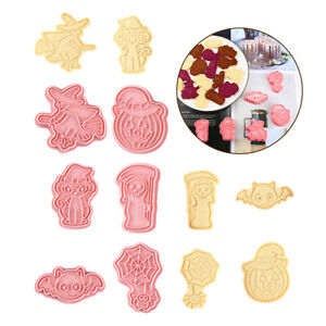 6Pcs Halloween Cookie Cutters Mold Plastic Bakery Mold Cake Decorating Tools