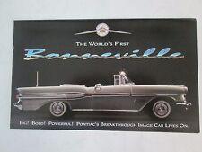 Franklin Mint Brochure 1957 Pontiac Bonneville