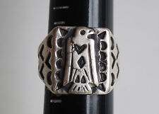VERY OLD FRED HARVEY THUNDERBIRD RING INGOT SILVER NAVAJO INDIAN RING 1920's
