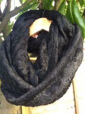 Punto Negro Y Piel Reversible/paño grueso y suave invierno Infinity Redecilla BNWT.