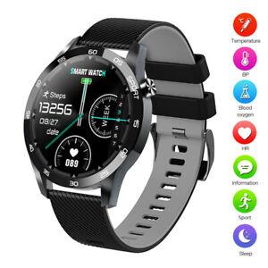 Men Boys Smart Watch Body Temperature Heart Rate Monitor Activity Tracker Sport