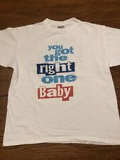 """Vintage Diet Pepsi Single Stitch Shirt """"You Got The Right One Bady"""" Size L 80's"""