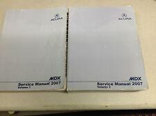 2007 Acura MDX Service Repair Shop Workshop Manual Set FACTORY OEM Book Worn