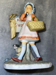 Gift World of Gorham Norman Rockwell Porcelain Figurine No Swimming 1974