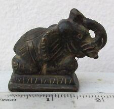 Nice! Old Bronze Opium Weight Kneeling Elephant 220g.