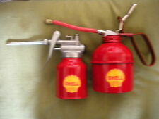 SET OF 2 RETRO REPRODUCTION SHELL OIL CANS( 250cc & 500cc)