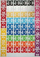 4 x dc shoe vinyle stickers autocollant 6CM x 5CM jdm euro ski skateboard snowboard jap