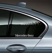 2 - Mercedes Benz Sport Racing Decal sticker emblem logo WHITE