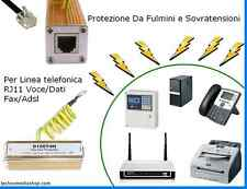 ^fn Protezione Antifulmini Modem Router Fax Centralini Cordless Voce Dati RJ-11
