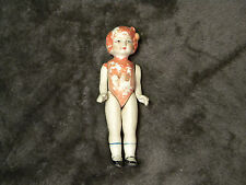 """ANTIQUE JOINTED Porcelain DOLL, 6"""" tall, Very old collector item,good condition"""