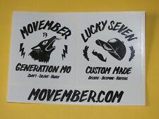Generation Mo MOVEMBER Mens Health Moustache Season Lucky Seven Caps Stickers