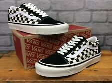 VANS MENS UK 8 EU 42 OLD SKOOL CHECKERBOARD BLACK WHITE TRAINERS  EP
