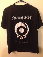 RARE Six Feet Under Warpath Tour Shirt size S / M death metal Slayer Blue Grape
