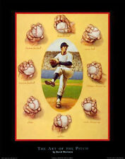 THE ART OF THE PITCH Baseball Pitching Instructional Art POSTER Print