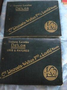 2 anciens catalogue échantillons Tentures lavables Deïlor
