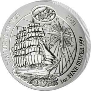 2021 Rwanda Nautical Ounce HMS Sedov 1 oz Silver Coin
