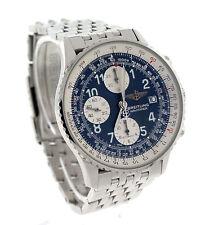 Breitling Armbanduhren aus Edelstahl mit Leder-Armband