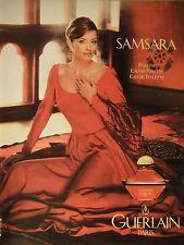 PUBLICITÉ 1994 SAMSARA PARFUM GUERLAIN PARFUM - ADVERTISING