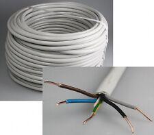 """Stromkabel Stromleitung """"NYM-J"""" 50m isoliert 5G1,5 Außen Ø9,5mm, Ring Kabel grau"""