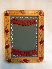 CHALKBOARD Wall Hanging COUNTRY KITCHEN 4x6 Red Hearts Hand Painted Wood Frame