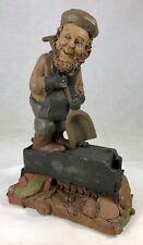 "Tom Clark Gnome Stokes with Coal Car #1132 Edition #20 7.25"" Cairn Studios"