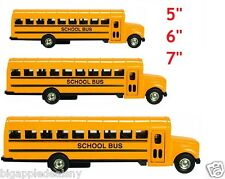 """3 PCS Yellow School Bus Diecast Model pull back action openable doors 5"""" 6"""" 7"""""""