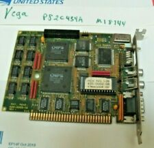 VINTAGE 9-Pin EGA Video Card 8-Bit ISA 5-Pin Dip Switch P82C434A M18744