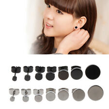 7Pcs Round Stud Earrings Set Titanium  Ear Studs Pierced Tunnel Jewelry 3-10mm