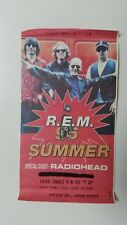 R.E.M /Radiohead Israeli Israel concert rare used Press ticket