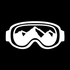 Ski Goggles vinyl sticker decal mountains snowboarding winter sports