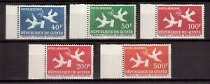 GUINEA 1959 MINT NH SET # C17/21, DOVES WITH LETTER & OLIVE !!  E4