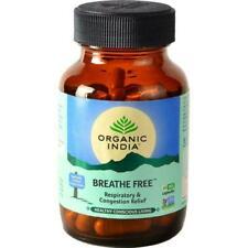 Organic India Breathe Free Herbal 60 Capsules Free Shipping
