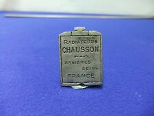 vtg badge car radiators grill shape chausson double sided advert motoring 1920s