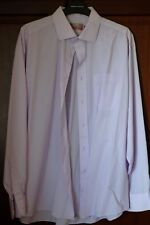M&S Man's shirt, 16.5 Collar, Pale purple, button cuff, easy-care fabric, used