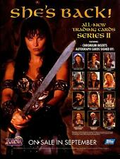 Xena Warrior Princess Series 2 Trading Card Dealer Sell Sheet Sale Ad Topps 1998