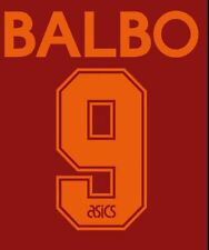Balbo #9 Roma 1995-1998 Home Football Nameset for shirt